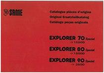 EXPLORER 70 - 80 - 90 SPECIAL - Catalogo Parti di ricambio/ Spare parts catalogue / Catálogo peças originais