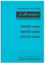 554.50-564.60-574.70 CRONO - Utilisation et Entretien