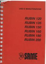 RUBIN 120-135-150-160-180-200 - Libretto uso & manutenzione