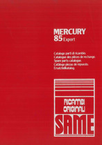 MERCURY 85 EXPORT - Catalogo Parti di Ricambio / Catalogue de pièces de rechange / Spare parts catalogue / Ersatzteilliste / Lista de repuestos