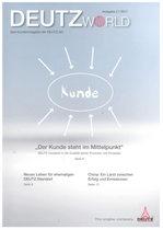 DeutzWorld - Das Kundenmagazin der Deutz AG