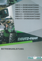 5080 D ->ZKDBC20200TD30001 - 5080 D ->ZKDBD40200TD30001 - 5090 D ->ZKDBC60200TD30001 - 5090 D ->ZKDBD80200TD30001 - 5090.4 D ->ZKDBD00200TD30001 - 5090.4 D ->ZKDBE20200TD30001 - 5100.4 D ->ZKDBE60200TD30001 - Betriebsanleitung