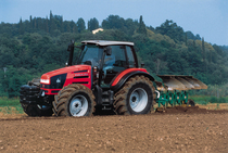 [SAME] trattore Rubin 150 al lavoro con aratro reversibile