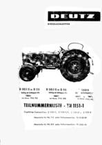 D 50.1 S-D 55-D 5505 - Ersatzteilliste / Spare parts catalogue / Catalogue de pièces de rechange / Lista de repuestos