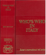COLOMBO Giancarlo, WHO'S WHO IN ITALY, Zurich, Who's who edition, 2000
