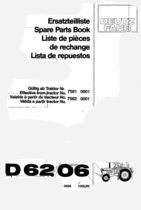 D 6206 - Ersatzteilliste / Spare Parts Book / Liste de pièces de rechange / Lista de repuestos