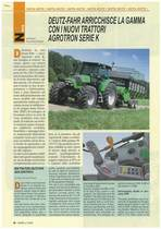 Deutz-Fahr arricchisce la gamma con i nuovi trattori Agrotron serie K