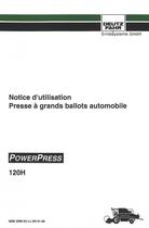 POWERPRESS 120 H - Notice d'utilisation