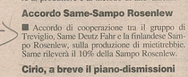 Accordo SAME-Sampo Rosenlew