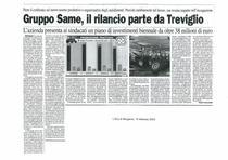 Gruppo SAME, il rilancio parte da Treviglio