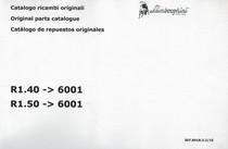 R1.40 ->6001 - R1.50 ->6001 - Catalogo ricambi originali / Original parts catalogue / Catalogo de repuestos originales