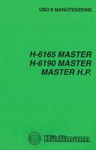 H 6165 MASTER - H 6190 MASTER - MASTER H.P. - Uso e manutenzione