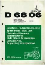 D 6806 - Ersatzteil-Nummerliste / Spare Parts - Nos. List / Liste de Repéres Numerique de Rechange / Lista de Nos. De Repuestos