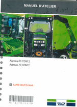 AGROLUX 60 COM 2 - AGROLUX 70 COM 2 - Manuel d'atelier