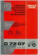 D 7207 - Ersatzteilliste / Spare Parts Book / Liste de pièces de rechange / Lista de repuestos