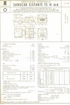 Atto di omologazione del trattore stradale SAME Samecar Elefante TS W 4x4