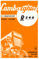 R 340 - Libretto Uso e Manutenzione / Catalogo Ricambi