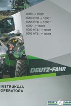 6060 ->16001 - 6060 HTS ->16001 - 6065 HTS ->16001 - 6090 ->16001 - 6090 HTS ->16001 - 6095 HTS ->16001 - Instrukcja operatora