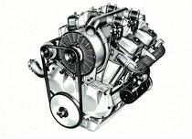 Motore DA 954 a 4 cilindri a V