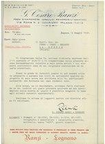 Documentazione ditta Cesare Ranzi di Legnano per motori aereonautici