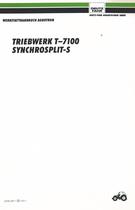 AGROTRON TRANSMISION T-7100 - SYNCHROSPLIT-S - Werkstatthandbuch