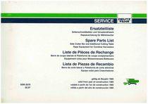 Seitenschneidbalken und Vorsatzmäherk Rapsausrüstung für Mähdrescher - Ersatzteilliste / Liste de Pièces de Rechange / Spare Parts List / Elenco dei Pezzi di Ricambio / Lista de Piezas de Recambio