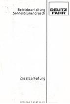 SONNENBLUMENDRUSCH für M 35.70 - M 36.40 H - Betriebsanleitung-Zusatzanleitung