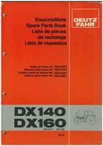 DX 140-160 - Ersatzteilliste / Spare Parts Book / Liste de pièces de rechange / Lista de repuestos