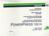 POWERPRESS 120 H - Ersatzteilliste / Liste de Pièces de Rechange / Spare Parts List / Elenco dei Pezzi di Ricambio / Lista de Piezas de Recambio