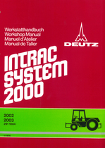 INTRAC 2002 - INTRAC 2003 - Fahrgestell - Chassis - Chassis - Cuerpo del tractor - Werkstatthandbuch - Workshop manual - Manuel d'atelier - Manual de taller