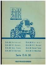 DA 30 - DA 30 DT - Uso y manutencion