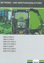 5650 H COM III - 5660 H COM III - 5660 HTS COM III - 5665 HTS COM III - 5690 H COM III - 5690 HTS COM III - 5695 HTS COM III - Betriebs - und Wartungsanleitung