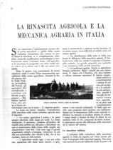 La rinascita agricola e la meccanica agraria in Italia