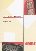 IRON 185 DCR - Uso y mantenimiento