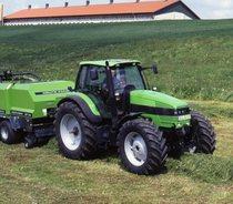 [Deutz-Fahr] trattore Agrotron 195 con pressa per balle quadrangolari