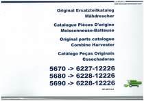 5670-5680-5690 - Ersatzteilliste / Liste de Pièces de Rechange / Spare Parts List / Elenco dei Pezzi di Ricambio / Lista de Piezas de Recambio