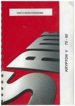 KRYPTON V 70 - 80 - Uso e manutenzione