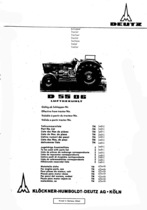 D 5506 - Ersatzteilliste / Spare parts catalogue / Catalogue de pièces de rechange / Lista de repuestos