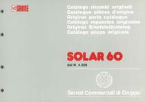 SOLAR 60 - Catalogo Parti di Ricambio / Catalogue de pièces de rechange / Spare parts catalogue / Ersatzteilliste / Lista de repuestos / Catálogo peças originais : dal n. 4.500