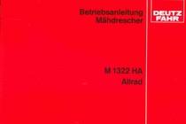 M 1322 HA ALLRAD - Betriebsanleitung