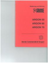 ARGON 50 - 60 - 70 - Bedienung und wartung