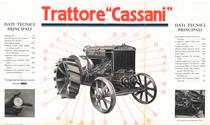 """Trattore agricolo con motore ad olio pesante a testa fredda """"Cassani"""""""