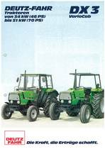 DX 3 VARIOCAB Traktoren von 34 KW (46 PS) bis 51 KW (75 PS)
