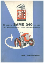 SAME 240 (42HP) - Uso y manutencion