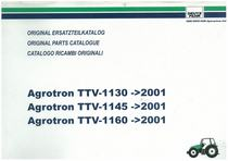 AGROTRON TTV 1130-1145-1160 2001 - Original Ersatzteilkatalog / Original parts catalogue / Catalogo ricambi originali