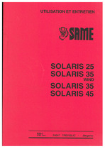 SOLARIS 25-35-35 WIND-45 - Utilisation et entretien