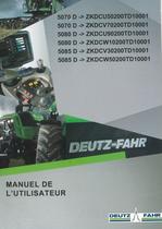 5070 D ->ZKDCU50200TD10001 - 5070 D ->ZKDCV70200TD10001 - 5080 D ->ZKDCU90200TD10001 - 5080 D ->ZKDCW10200TD10001 - 5085 D ->ZKDCV30200TD10001 - 5085 D ->ZKDCW50200TD10001 - Manuel de l'utilisateur