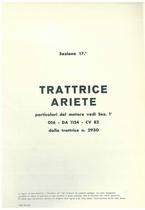 Sez. 17 - ARIETE - Catalogo Parti di Ricambio / Catalogue de pièces de rechange / Spare parts catalogue / Ersatzteilliste / Lista de repuestos