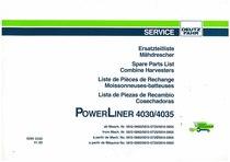 POWERLINER 4030-4035 - Ersatzteilliste / Liste de Pièces de Rechange / Spare Parts List / Elenco dei Pezzi di Ricambio / Lista de Piezas de Recambio