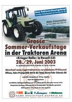 Grosse Sommer - Verkaufstage in der Traktoren Arena